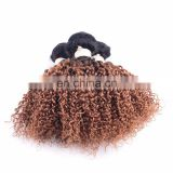 hair fashion black strawberry blonde kinky curly brazilian human hair weave 100 human hair from xuchang factory