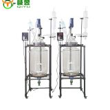 Lab Scale Pyrolysis Reactor Jacketed Glass Reactor