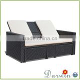 double seater wooden sun lounger DW-CL192