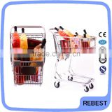 Strong material metal case hand pull trolley
