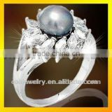 high quality new design art deco pearl engagement rings for women with prompt delivery paypal acceptable