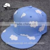Lovely picking baseball cap pink&blue cloud patterns hip-hop Snapback hat