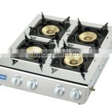 Hot selling restaurant use 4 burner gas stove with CE certified