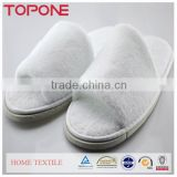 2014 White Washable Cheap Indoor Guest Personalized Hotel Slippers