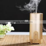 Car Charger Mini Ultrasonic Essential Oil Aroma Diffuser Aluminium Alloy Wood Grain Aromatherapy USB Humidifier With US Plug