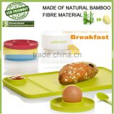 new design bamboo fiber breakfast plate,disposable bamboo fiber plate
