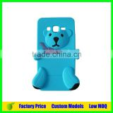 Lovely bear blu Silicone 3d phone case mobile cover for Iphone SE cell phone case back cover