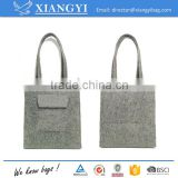 Recycling reusable costom logo promotion felt shopping handbag tote shopping bag                                                                                                         Supplier's Choice