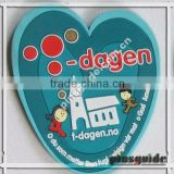 High Quality Customer Logo Printed Soft PVC Heart Shaped Plain Cup Mats For Turismo Recuerdos