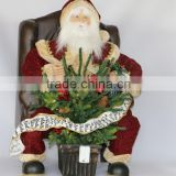 XM-CH1550 32 inch lighted sitting on chair santa claus for christmas decoration