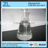 Glyoxal for textile finishing agent