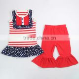 USA 2015 4th of july outfit for kids make in China Guangzhou,Baby Independence Day Clothing sets