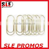 gold color metal wire flat paper clip
