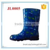 blue fish cartoon print rubber rain boots boys pvc rain boots