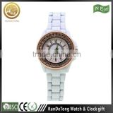 Top selling rose gold plated bezel sapphire crystal ceramic watch