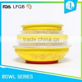 Bulk sale new design with lid baby feeding bowl