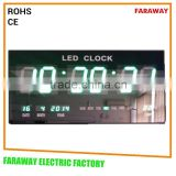 "3"" green led digital clock with temperature for shops, warehouse,bus station,office,supermarket"