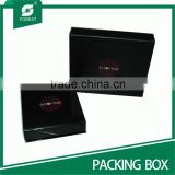 MEDIUM BLACK CARDBOARD HAIR EXTENSION PACKAGING BOX WITH CUSTOM LOGO                                                                         Quality Choice