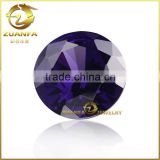 20mm round shape violet synthetic cz aaaaa grade gemstone for latest design beads necklace