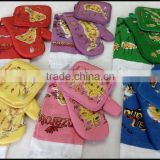 China supplier cheap customed map design colorful kitchen use oven mitt and potholder,hand towel set