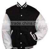 Black And White Custom Made Letterman Varsity Jacket Men ,Custom Varsity Jacket, Letterman varsity jacket