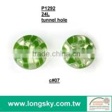 (#P1292-07) eco friendly customized fashion designer colourful round resin clothing button