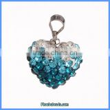 Wholesale High Quality Heart Rhinestone Paved Necklace Pendants And Charms CPP-H001D
