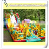 2015 The most popular big Inflatable forest animal slide dragon park for kids on sale