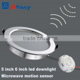 smart motion sensor led round lamps high brightness AC voltage underground parking lot sensor lighting