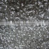 latest allover spangle ring sequin embroidery net fabric for dress