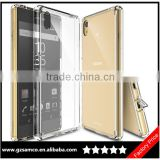 Samco All New Dust Free Cap & Drop Protective Crystal View Premium Crystal PC TPU Bumper Case for Sony Xperia Z5 Clear