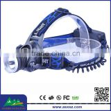 High quality 1xCREE XML T6 LED 1800 lumens Rechargeable Led Headlamp manufacturer