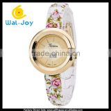 WJ-4786 stainess steel back Geneva for small wrists bell and rose quartz women watches