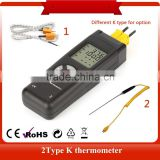 Digital LCD Type K Thermometer Temperature dual Input Pro Thermocouple Probe detector Sensor Reader Meter