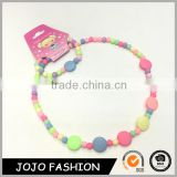 China suppliers colorful girls jewelry set novelty silicone teething necklace set for babies                                                                                                         Supplier's Choice