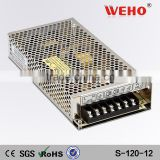 WEHO CE ROHS factory outlet constant voltage ac to dc single output power supply 120W 12v 10a