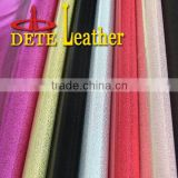 PU artificial leather for shoes glitter fabric shoes raw material leather
