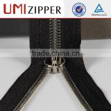 double sliders black nickel close-end metal zipper for jacket                                                                         Quality Choice