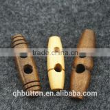 fashion wood toggle button