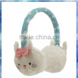 Featuring adorable bunny faces plush earmuff,safety ear muff,white earmuffs