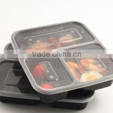 Good quality 3 compartment plastic food storage container ,3 compartment bento box portion control container set                                                                         Quality Choice