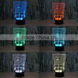 3D Optical Night Light Sponge Baby 7 RGB Light Colors 10 LEDs AA Battery or DC 5V Mixed Lot