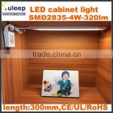 display led light bar, cold white/warm white dc12v/24v led cabinet light with RF dimmable switch by CCT changing controller