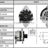 Stable and reliable operation electric auto alternator for 99-02 Lanos 1101563 alternator