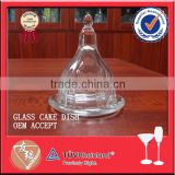 High quality bell shape designed glass dome with base