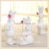 Cony Animal Ceramic Figurine white Home Decorate Collectible Gift