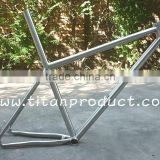 Gr.9 Titanium MTB Frame 26'' Integrated Seatpost/44mm Headtube/Double Downtube/Hidden Cable Running/Sliding Dropouts