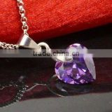 2013 heart crystal necklace for gift small order(R-1366