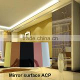 Polyester coating Mirror finish Aluminum Composite Plastic Panel for kitchen cookers home facilities