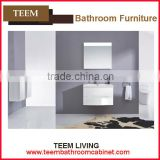 2016 new design concise italian style modern Multi layer solid wood home furniture Sanitary white bathroom mirror cabinet